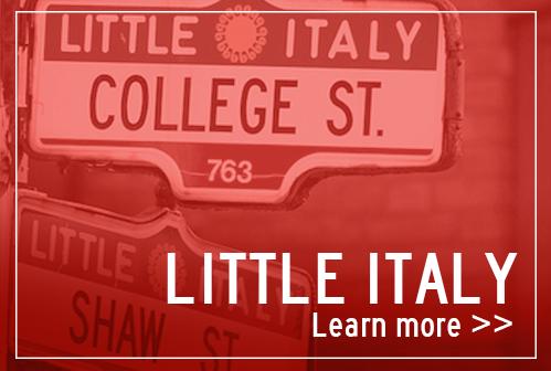 Food tour of Little Italy neighbourhood in Toronto