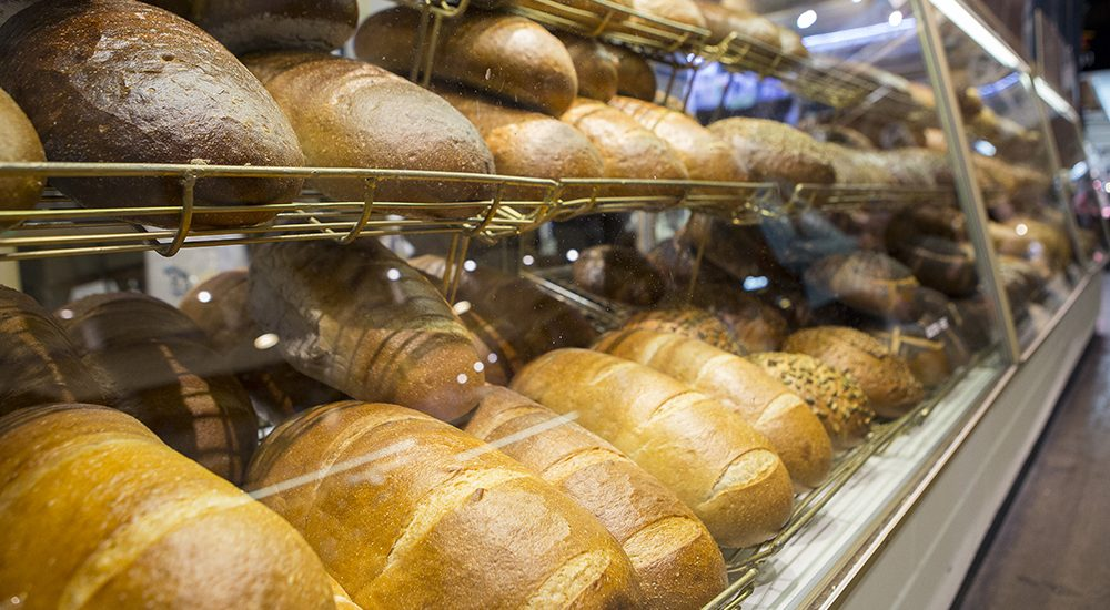 Fresh baked bread at St Lawrence Market