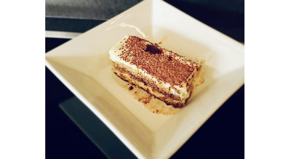 Tiramisu dessert served in Little Italy