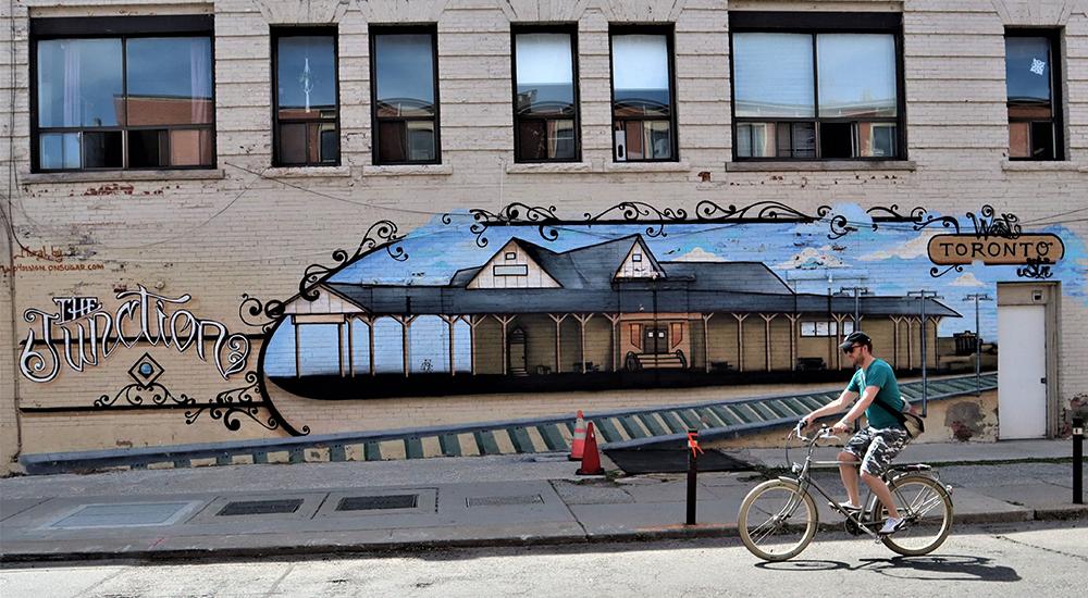 A mural in the Junction neighbourhood of Toronto