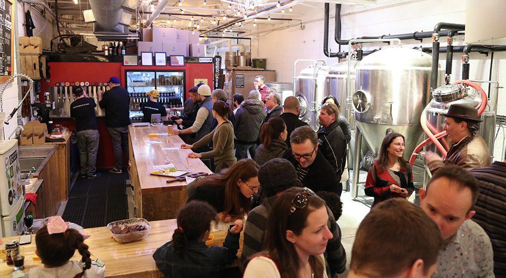 Inside a restaurant along the Junction food tour