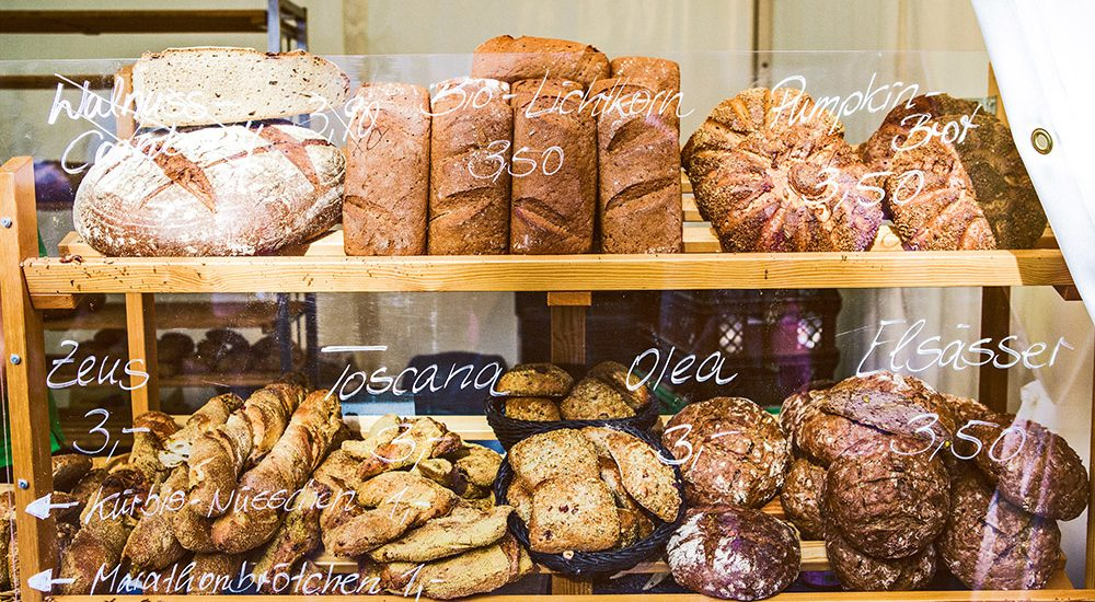 Fresh baked breads available at a bakery along the Junction food tour