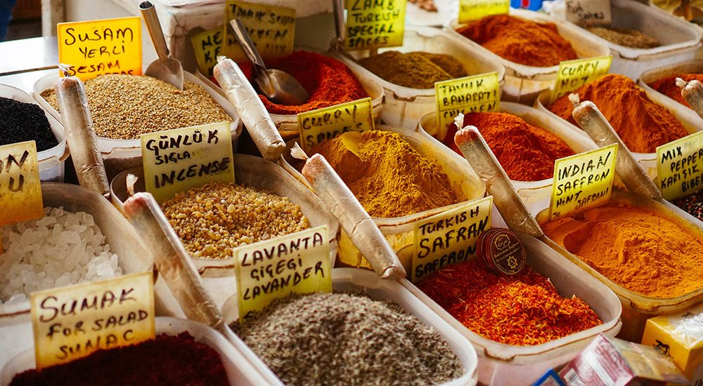 A selection of spices for sale in Little India