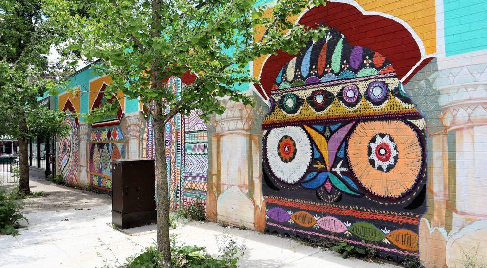 Street murals in Little India