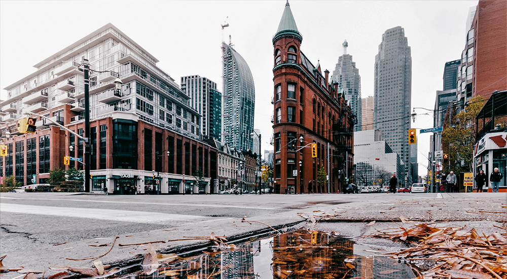 Street view of the Gooderham Building